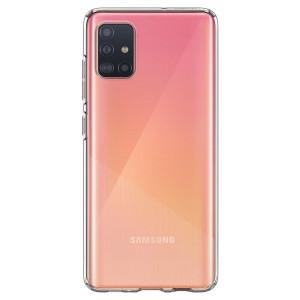 Husa Cover Spigen Liquid Crystal pentru Samsung Galaxy A71 Transparent