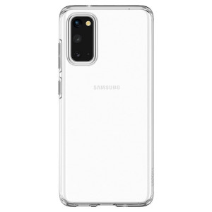 Husa Cover Spigen Liquid Crystal pentru Samsung Galaxy S20 Transparent