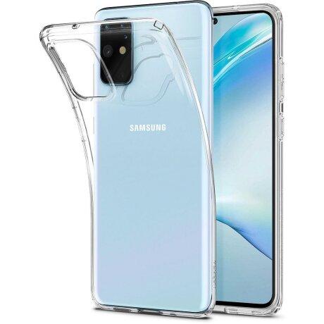 Husa Cover Spigen Liquid Crystal pentru Samsung Galaxy S20 Plus Clear