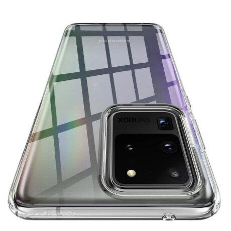 Husa Cover Spigen Liquid Crystal pentru Samsung Galaxy S20 Ultra Clear