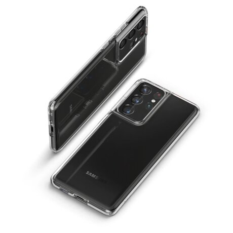 Husa Cover Spigen Liquid Crystal pentru Samsung Galaxy S21 Ultra Clear