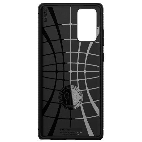 Husa Cover Spigen Rugged Armor pentru Samsung Galaxy Note 20 Matte Black