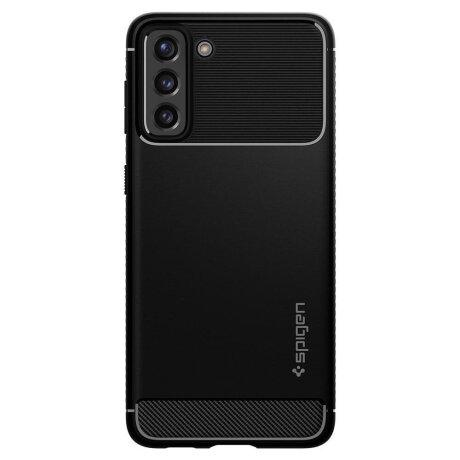 Husa Cover Spigen Rugged Armor pentru Samsung Galaxy S21 Matte Black