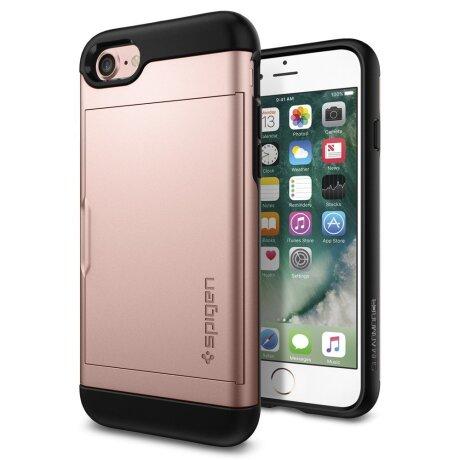 Husa Cover Spigen Slim Armor pentru iPhone 7/8/SE 2 Rose Gold