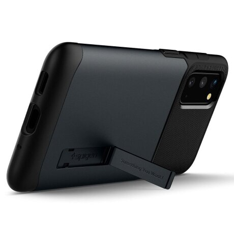 Husa Cover Spigen Slim Armor pentru Samsung Galaxy S20 Metal Slate Gri
