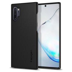Husa Cover Spigen Thin Fit pentru Samsung Galaxy Note 10 Plus Black