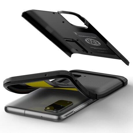 Husa Cover Spigen Tough Armor pentru Samsung Galaxy S20 Metal Slate Black