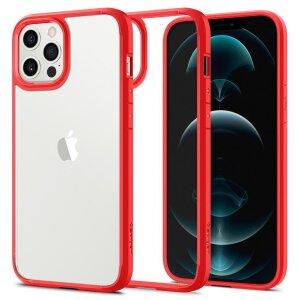 Husa Cover Spigen Ultra Hybrid pentru iPhone 12 Pro Max Matte Red