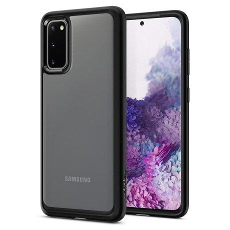 Husa Cover Spigen Ultra Hybrid pentru Samsung Galaxy S20 Matte Black