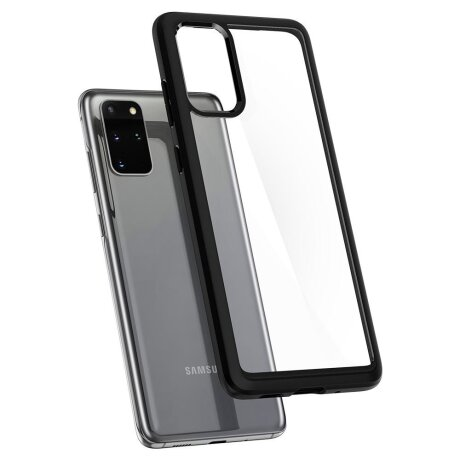 Husa Cover Spigen Ultra Hybrid pentru Samsung Galaxy S20 Plus Matte Black