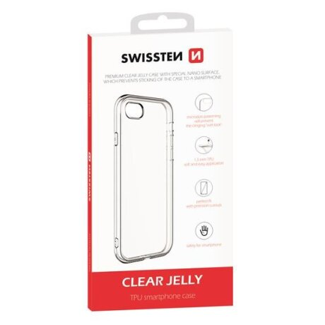 Husa Cover Swissten Silicon Jelly pentru iPhone X/Xs Transparent