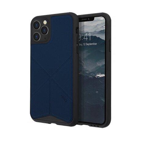 Husa Cover TPU-Textil Uniq Rigor pentru iPhone 11 Pro Max UNIQ-IP6.5HYB(2019)-TRSFBLU Albastru