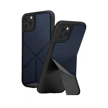 Husa Cover TPU-Textil Uniq Rigor pentru iPhone 11 Pro UNIQ-IP5.8HYB(2019)-TRSFBLU Albastru