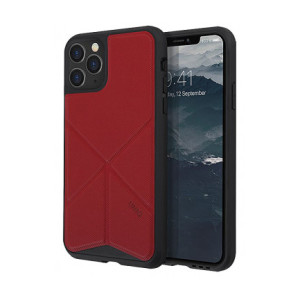 Husa Cover TPU-Textil Uniq Rigor pentru iPhone 11 Pro UNIQ-IP5.8HYB(2019)-TRSFRED Rosu