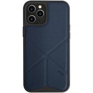 Husa Cover TPU-Textil Uniq Rigor pentru iPhone 12 Pro Max  Albastru