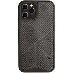 Husa Cover TPU-Textil Uniq Rigor pentru iPhone 12 Pro Max Gri