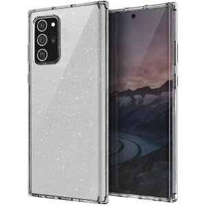 Husa Cover TPU Uniq LifePro Tinsel Glitter pentru Samsung Galaxy Note 20 Ultra Transparent