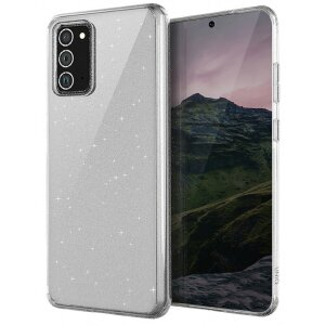 Husa Cover TPU Uniq LifePro Tinsel Glitter pentru Samsung Galaxy Note 20 Transparent