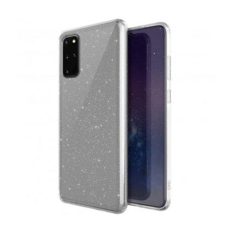 Husa Cover TPU Uniq LifePro Tinsel Glitter pentru Samsung Galaxy S20 Plus Transparent