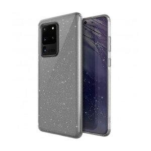 Husa Cover TPU Uniq LifePro Tinsel Glitter pentru Samsung Galaxy S20 Ultra Transparent