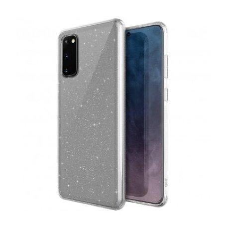 Husa Cover TPU Uniq LifePro Tinsel Glitter pentru Samsung Galaxy S20 Transparent