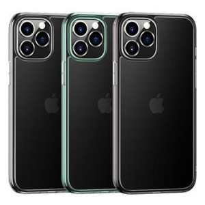 Husa Cover TPU Usams Kryt Pro Minni pentru iPhone 12 Pro Max  Transparent cu Rama Verde