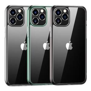 Husa Cover TPU Usams Kryt Pro Minni pentru iPhone 12 Pro  Transparent cu Rama Verde