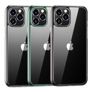 Husa Cover TPU Usams Kryt Pro Minni pentru iPhone 12/12 Pro  Transparent cu Rama Verde