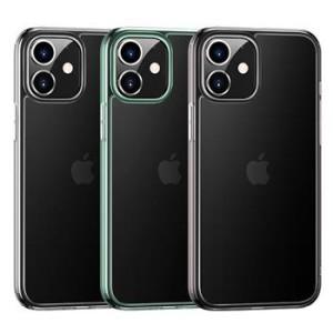 Husa Cover TPU Usams Kryt Pro Minni pentru iPhone 12 Mini Transparent cu Rama Verde