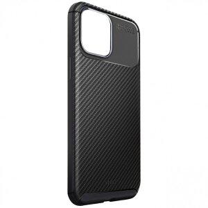 Husa Cover Uniq Hexa Fibra Carbon pentru iPhone 12/12 Pro Negru