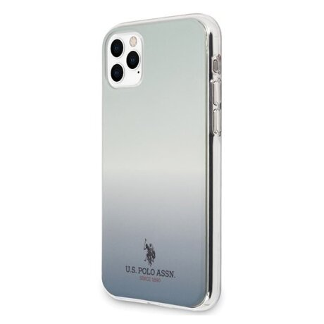Husa Cover US Polo Gradient Pattern Collection pentru iPhone 11 Pro Blue