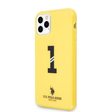 Husa Cover US Polo No.1 Bicolor pentru iPhone 11 Pro Galben