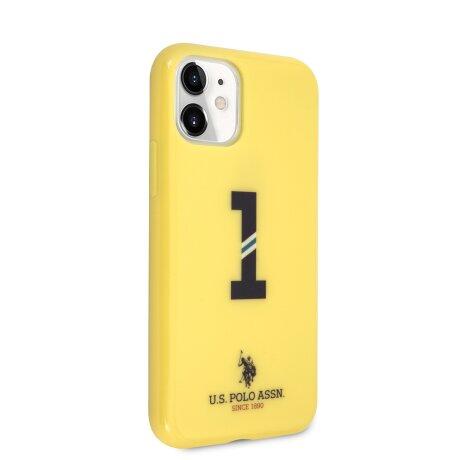 Husa Cover US Polo No.1 Bicolor pentru iPhone 11 Galben
