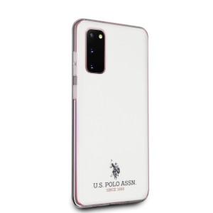 Husa Cover US Polo Shiny pentru Samsung Galaxy S20 Alba