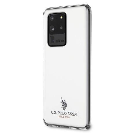 Husa Cover US Polo Shiny pentru Samsung Galaxy S20 Ultra Alba