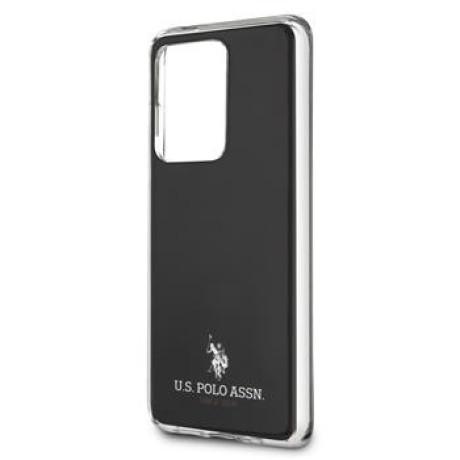 Husa Cover US Polo Shiny pentru Samsung Galaxy S20 Ultra Neagra