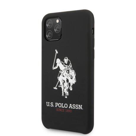 Husa Cover US Polo Silicone Big Horse pentru iPhone 11 Pro Negru