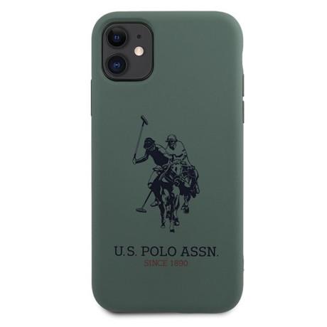 Husa Cover US Polo Silicone Big Horse pentru iPhone 11 Green