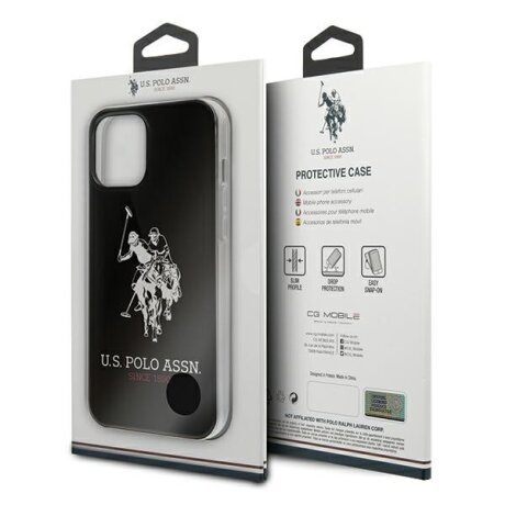 Husa Cover US Polo Silicone Big Horse pentru iPhone 12 Pro Max Black