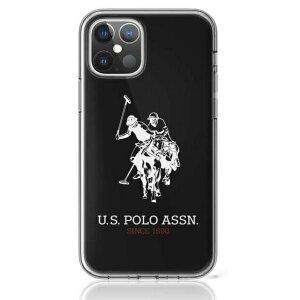Husa Cover US Polo Silicone Big Horse pentru iPhone 12/12 Pro Black