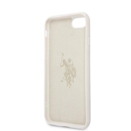 Husa Cover US Polo Silicone Big Horse pentru iPhone 7/8/SE2  Alb