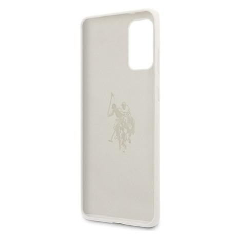 Husa Cover US Polo Silicone Big Horse pentru Samsung Galaxy S20 Plus White