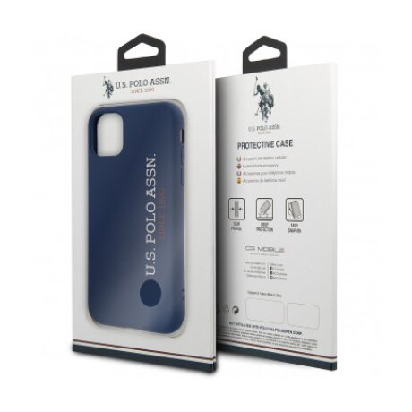 Husa Cover US Polo Silicone Effect Kryt pentru iPhone 11 Pro Blue