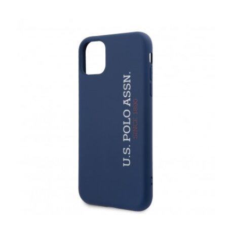 Husa Cover US Polo Silicone Effect pentru iPhone 11 USHCN61SLNVV2 Blue