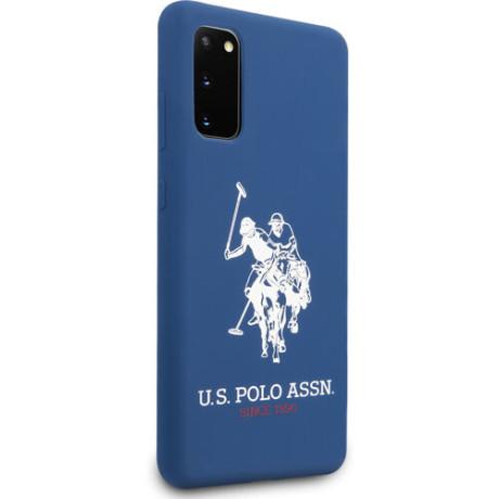Husa Cover US Polo Silicone pentru Samsung Galaxy S20 Albastra