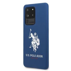 Husa Cover US Polo Silicone pentru Samsung Galaxy S20 Ultra Albastra