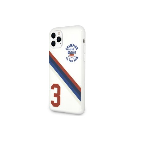 Husa Cover US Polo TPU Detroit 3 Pro pentru iPhone 11 Pro White