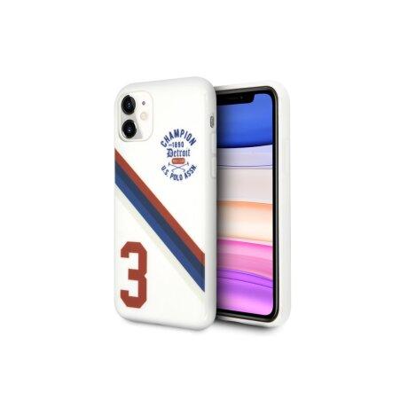 Husa Cover US Polo TPU Detroit 3 Pro pentru iPhone 11 White