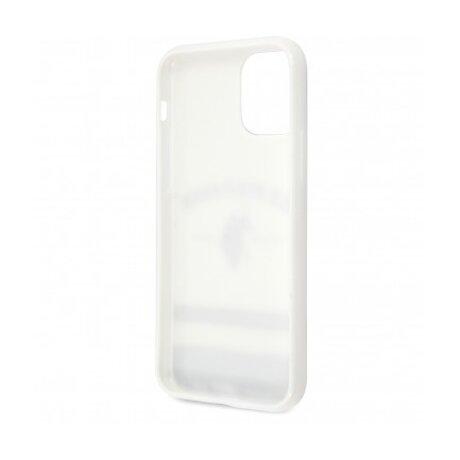 Husa Cover US Polo TPU Tricolor Blurred pentru iPhone 11 Pro USHCN58PCSTRB White