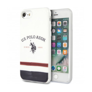 Husa Cover US Polo TPU Tricolore pentru iPhone 7/8/SE 2 USHCI8PCSTRB White